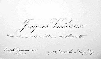 La Carte De Visite Jacques